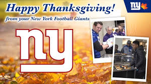 new york giants happy thanksgiving from the new york