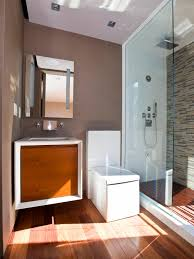 bathroom brown wood vanity stainless wall shower japanese