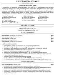 Sample Nursing Resumes by Registered Nurse Resume Template