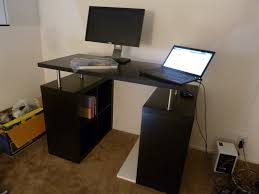 Standing Height Desk Ikea Mobile Adjustable Height Computer Workstation With Caster Wheels