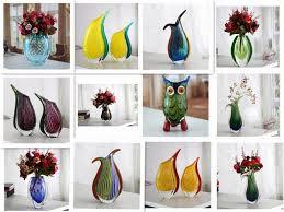 murano glass vase living room table home goods decorative vase
