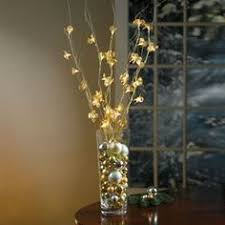 decorative branches with lights centerpieces battery operated crystal amber led berry 38