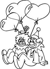 157 coloring clowns jesters images