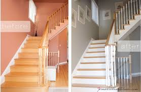 ordinary oak to simply white my staircase reveal pink little
