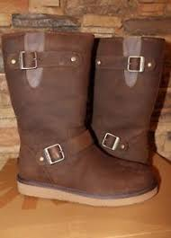 s sutter ugg boots toast nib ugg australia s sutter leather buckle boots toast us 9