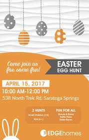 you are invited to our annual easter egg hunt edgehomes blog