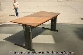 Runder Schreibtisch Schreibtisch 160x80 In Nussbaum Von Lorbeer