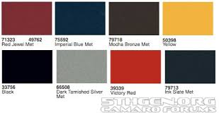 rumor mill 5th gen paint colors moderncamaro com 5th