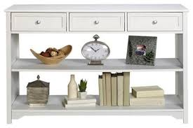 Sofa Table With Drawers Oxford Three Drawer Console Table With Open Storage Console