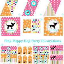 Birthday Decorations For Girls Girls Puppy Birthday Party Decorations Puppy Birthday Decorations