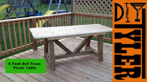 6ft 4x4 truss picnic table 002 youtube