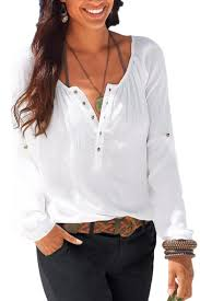 linen blouses womens casual v neck blouses linen sleeve button up shirts