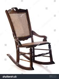Rocking Chair Old Fashioned Antique Cane Rocking Chair Isolated On Stock Photo 55436227