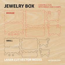 jewelry box vector template for laser cutting instant download