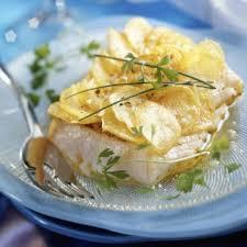 recette de cuisine a base de pomme de terre pavés de cabillaud en éventail de pomme de terre cuisine