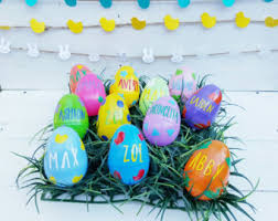 Large Plastic Easter Eggs Decorations by Easter Eggs Etsy