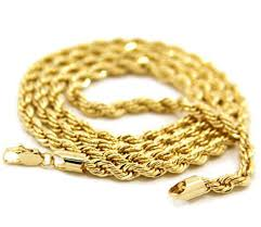 rope chain necklace men images 23 6 inch rope chain necklace 24k gold plated men 39 s 4mm wide jpg