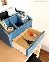 Desk Organization Diy by Diy Wood And White Desk Organizers Craftbnb Desk File Organizer
