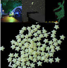 Glow In The Dark Home Decor 200pcs Glow In The Dark 3d Stars Moon Stickers Bedroom Home Wall
