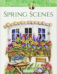 amazon creative haven spring scenes coloring book creative