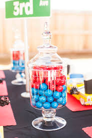 New York Themed Centerpieces by A New York City Inspired First Birthday Party Spaceships And