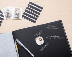 guest book with black pages 12x12 diy blank wedding guestbook ivory pages diy