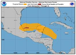 Mexico Hurricane Map by Hurricane Franklin Makes Landfall In Veracruz Mexico The