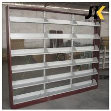 single side floor standing metal display book rack book shelf