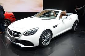 mercedes white new mercedes slc roadster at detroit 2016 pictures mercedes