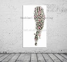 Wall Art For Bedroom by Bright Colored Oil Paintings Abstract Zebra Painting Animals