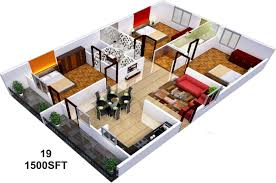 home plan 3d marvelous to sq ft house plans pictures 3d home plan 1500 2017