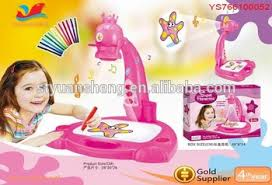 multifuction kids drawing desk 3 in 1 musical projector painting