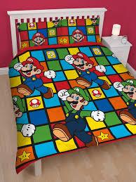 Mario Bedding Set Nintendo Mario Retro Duvet Cover Bedding Set