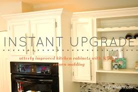 Kitchen Cabinet Crown Fine Adding Crown Molding To Kitchen Cabinets Moulding From