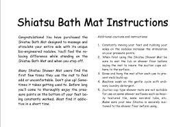 neatitems shiatsu massage bath u0026 shower mat