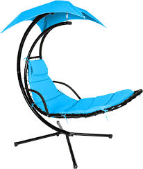 Outdoor Innovations Patio Furniture Chair Floating Swing Chaise Lounge Chair By Trademark Innovations