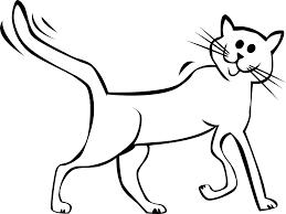 cartoon cat black white line art tatoo tattoo