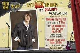 what to put on graduation announcements rock n roll and graduation invitations
