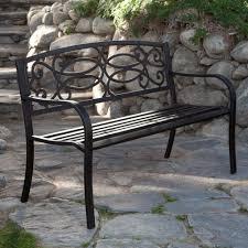 Metal Garden Chair 4 Ft Metal Garden Bench In Antique Black Finish Metal Garden