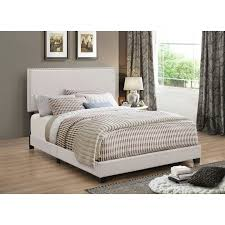 bedroom modern upholstered bed frame beds with leather