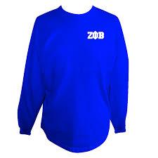 zeta phi beta spirit jersey blue u2013 letters greek apparel