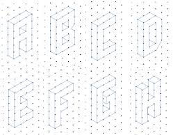 alphabet on isometric paper by kirbybill teaching resources tes