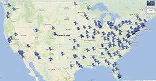 United States Google Map by Map Of Medical Schools In The United States Byu Premed