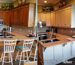 Kitchen Cabinets Before And After Cabinet Refinishing Before And After