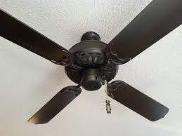how to paint a ceiling fan painted ceiling fan blades dark l shaped and ceiling