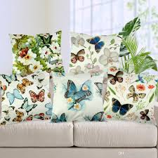 spandex butterfly printed pillow cases emoji cushion covers 45
