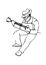 coloring page guitar player img 8718 clip art library