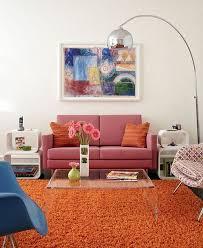 furniture formal living room with cream mid century sofa near