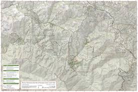 Mt Diablo State Park Map by Trail Map Of Portola Redwoods And Pescadero Creek