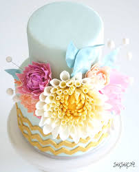 summer flower wedding cake susucre